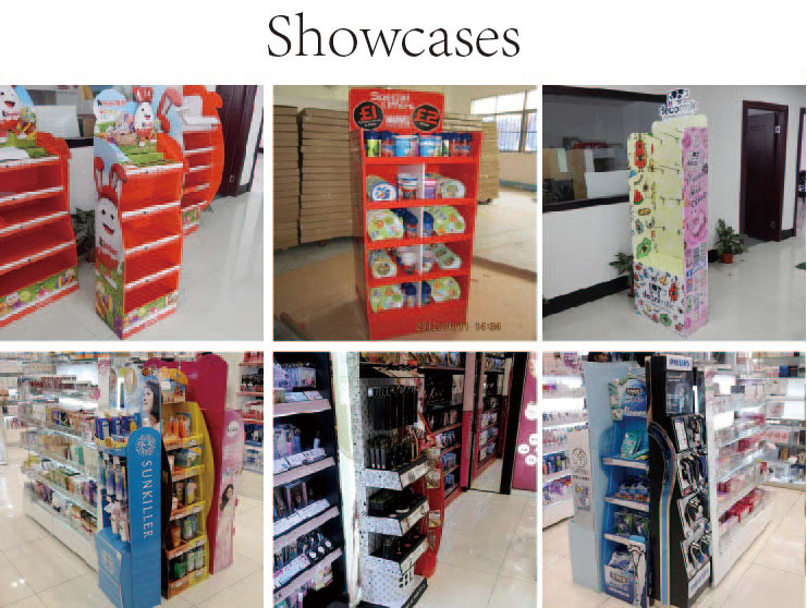 Double Sides Corrugated Display Stands for Promotion Station