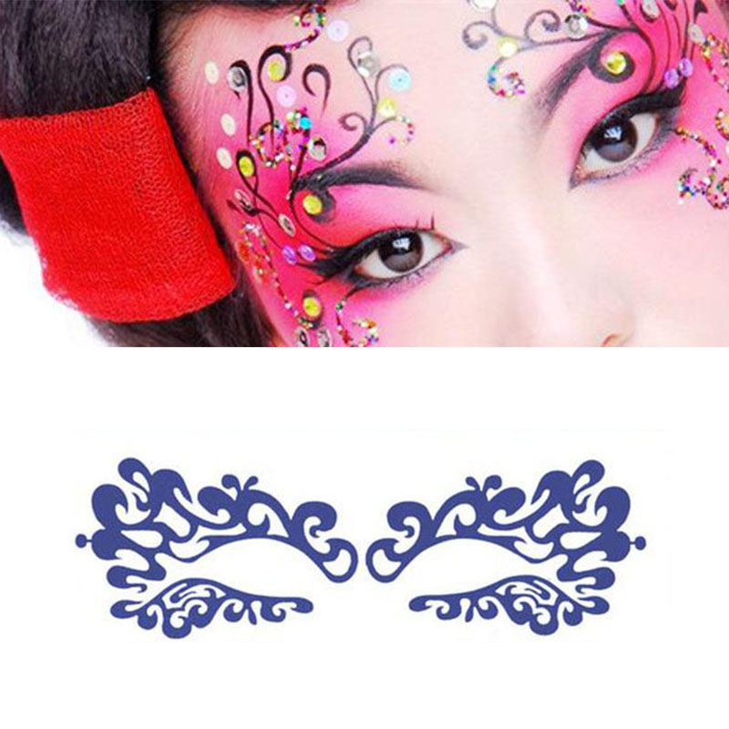 Sexy Lady Fashion Face Art Face Sticker Eye Mask Eye Stickers