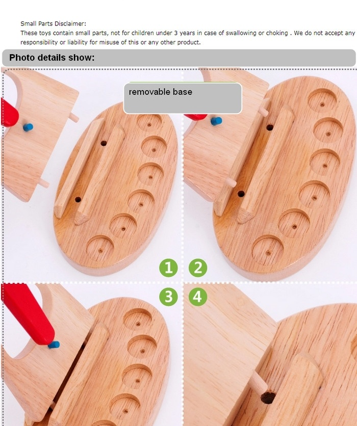 Montessori Wooden Children Educational Toy Balancing Scales