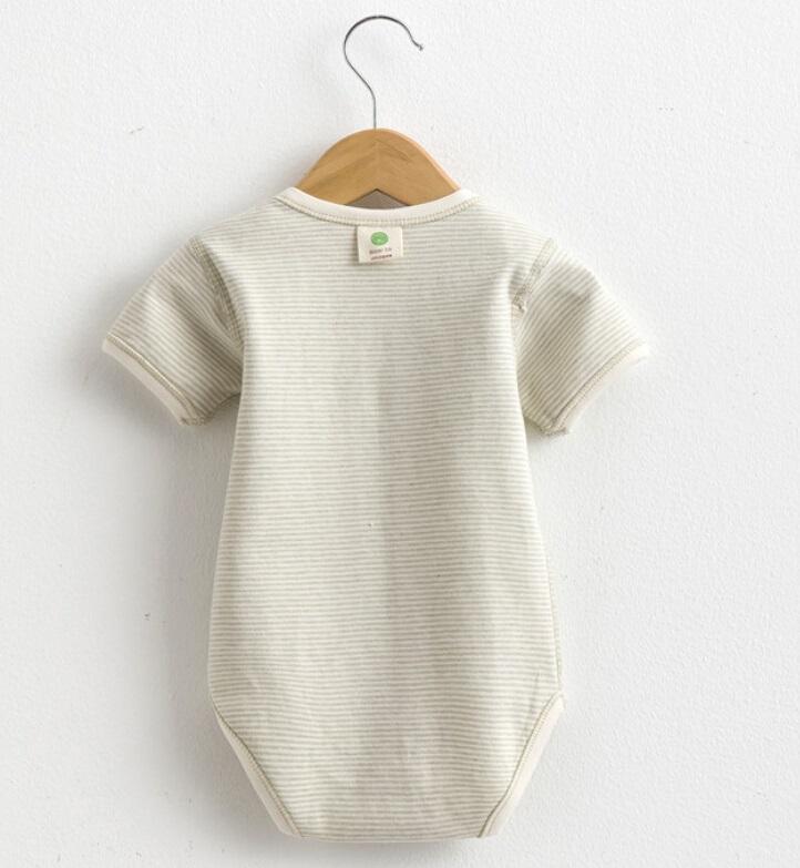 Summer Striped Short Sleeves Baby Romper
