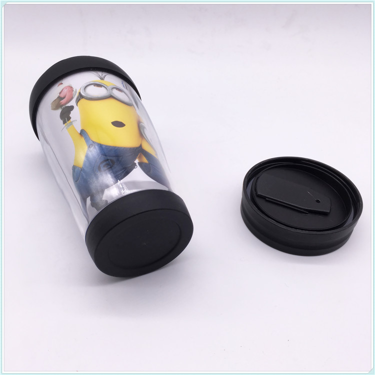 Double Wall Plastic Paper Insert Coffee Mug