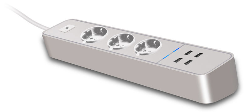 Electric Extension Socket Design with USB Power Strip