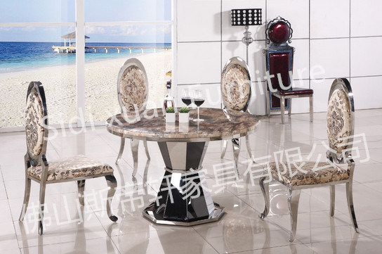 Luxury European Style Metal Round Dining Table White Furniture Marble Dining Table Round Dining Table Wholesale Price