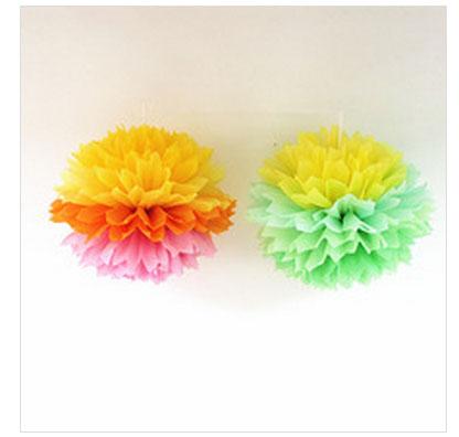 Wholesale POM Poms Flower Balls for New Decoration Design