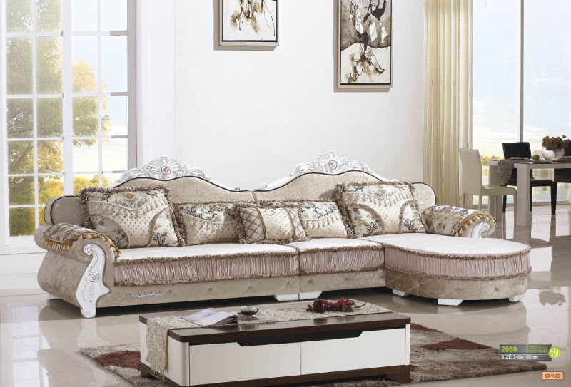 Royal Style Fabric Sofa, Europe Sofa (2078)