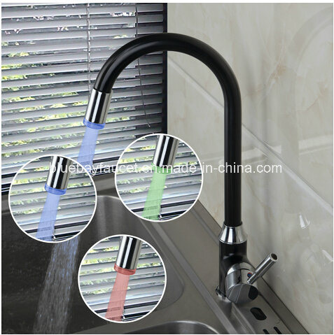 Black LED Kitchen Mixer with Ce Approval