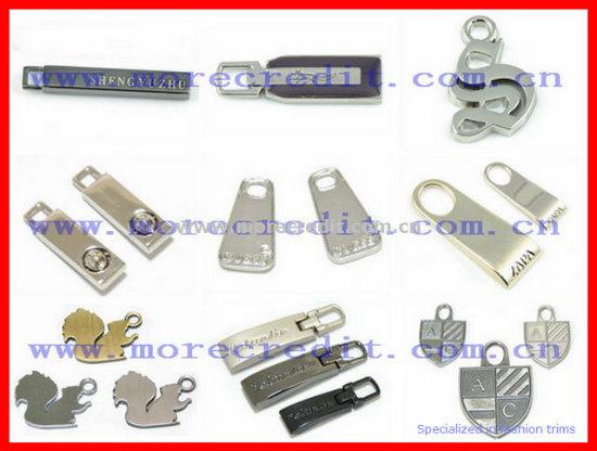 Laser Logo Zinc Alloy Zipper Puller for Luggage