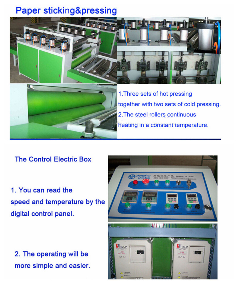 Hot Roll Laminating Line in Woodworking with Semi-Automatic