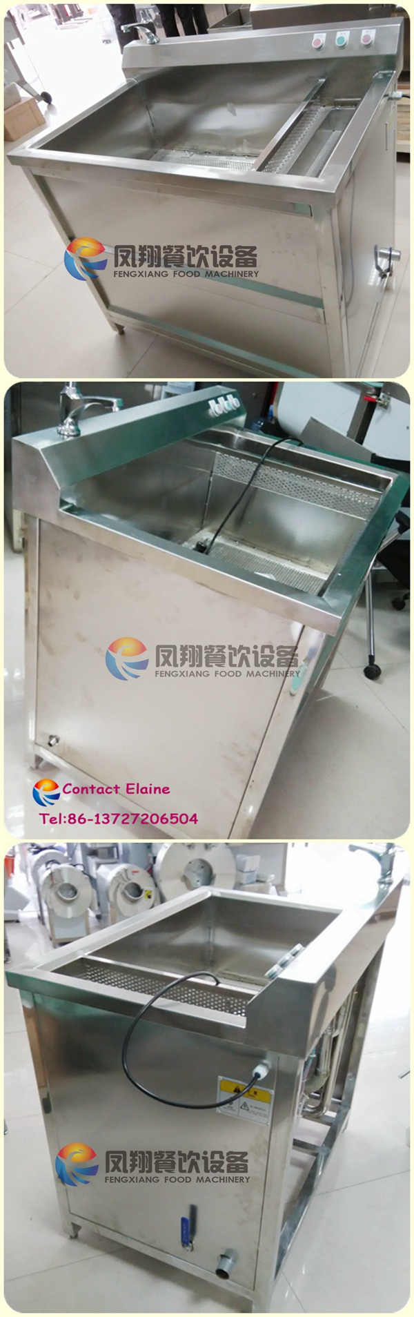 200-300kg/H Automatic Commercial Ozone Fruit and Vegetable Washer