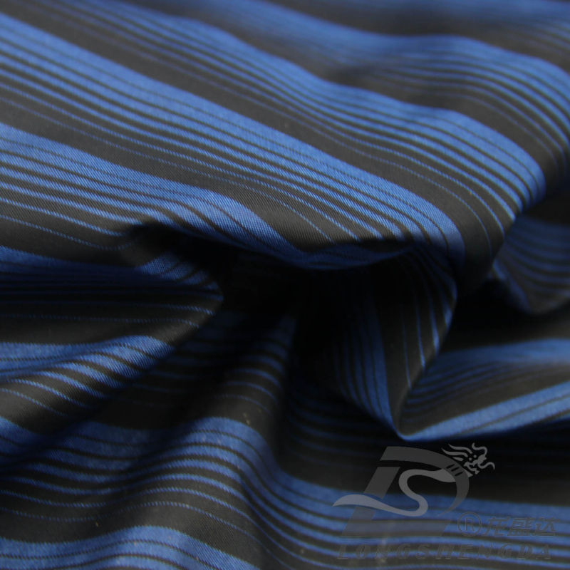 Water & Wind-Resistant Fashion Jacket Down Jacket Woven Striped Jacquard 100% Polyester Cationic Yarn Filament Fabric (X025)