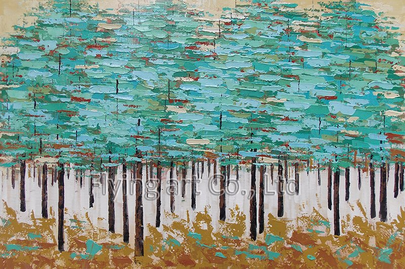 Abstract Reproduction Tree Oil Painting