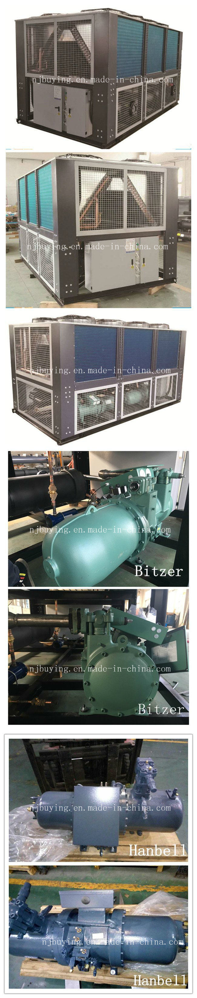 Refrigeration Air Cooled Screw Water Chiller for Chemical / Plastic Industry