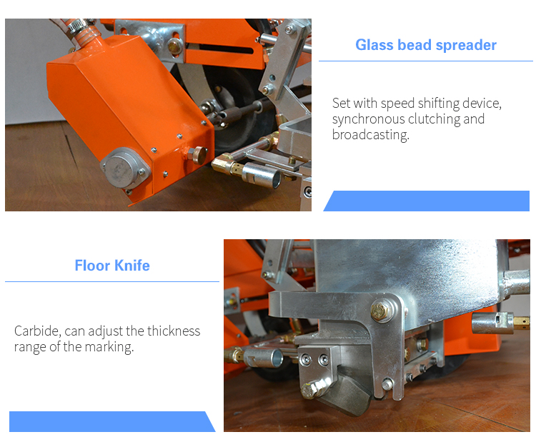 easy operate thermoplastic road marking machine