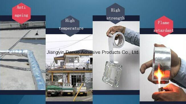 50mic Solvent Acrylic Adhesive Aluminium Foil Duct Tape
