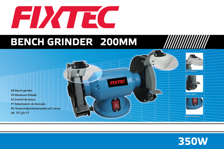 Fixtec Power Tool 350W 200mm Electric Bench Grinder