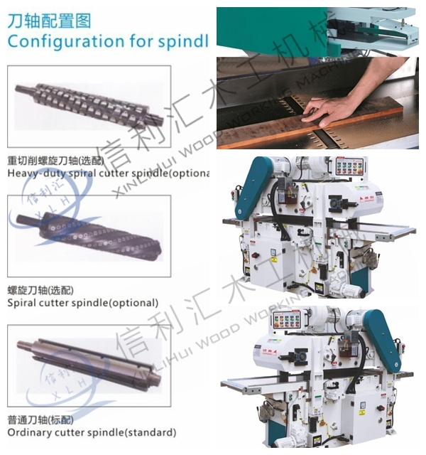 Double Side Industrial Wood Thickness Planer for Woodworking/ Wood Double Surface Planer Thicknesser/Double Side Thickness Planer