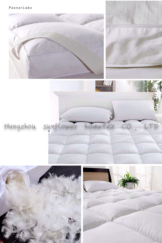 Hotel Goose Down Feather Mattress Pad/Topper