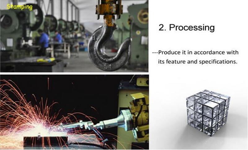 OEM Customized Shape Stamped Steel Corner Bracket