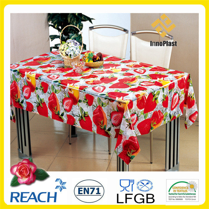 Cheap PVC Printed Transparent Table Cover