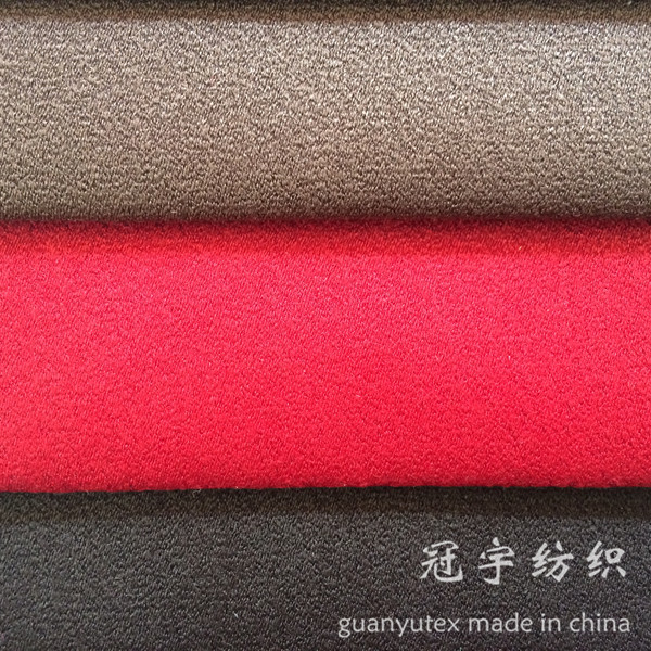 Polyester Suede 100% Synthetic Leather Fabric for Furnitures