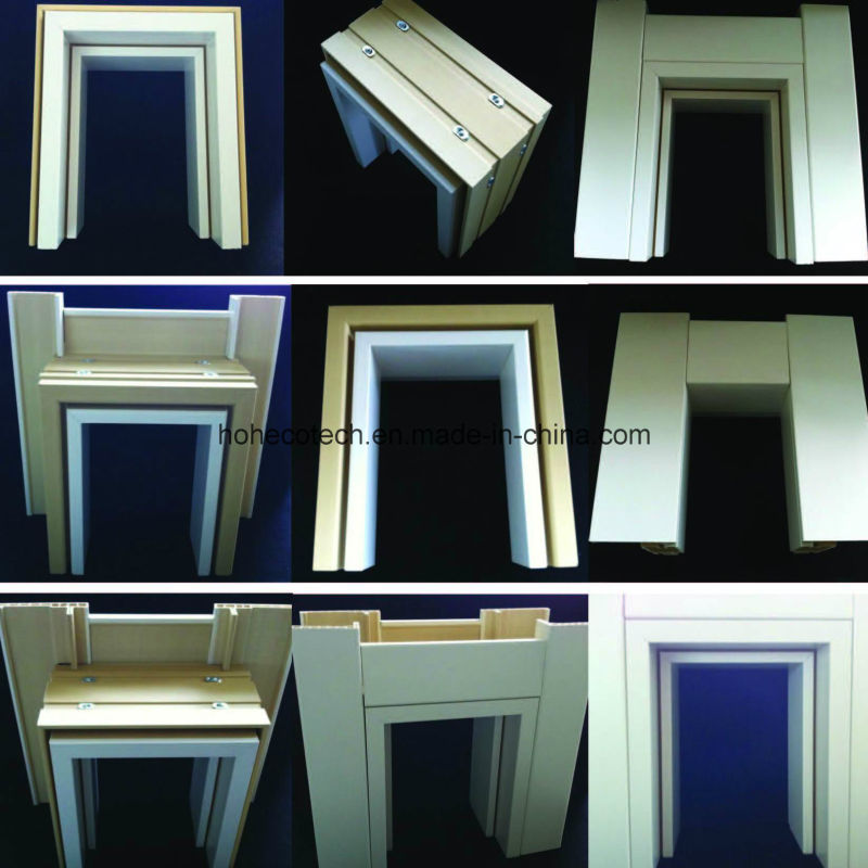 E-Style Combo WPC Door Frame PVC Foamed Door Jamb Door Pocket Architrave Df-100W50