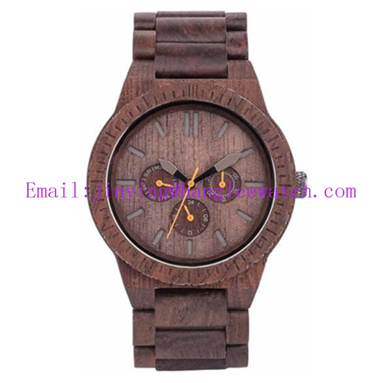 OEM Multi-Function Ebony Watches Natural Wooden Watches