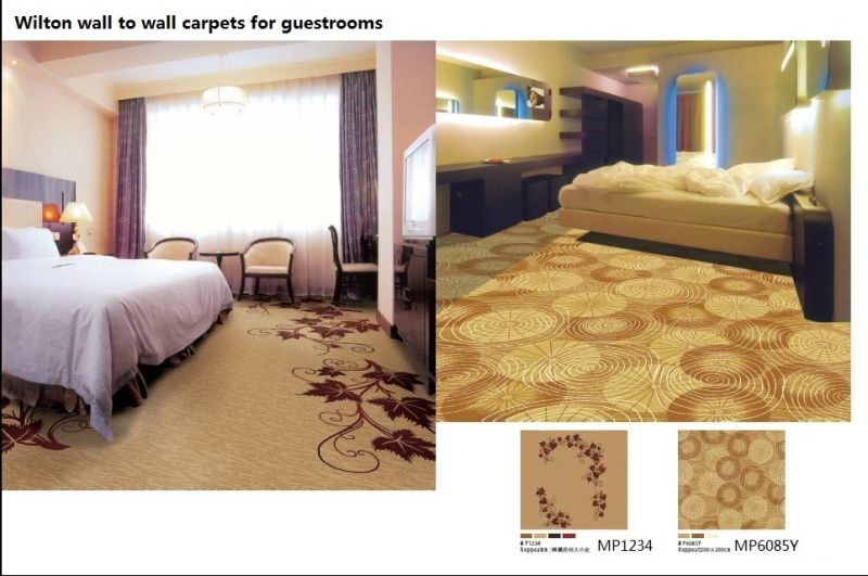 Machine Made Wilton Broad Loom Wool Hotel Carpets for Public Areas