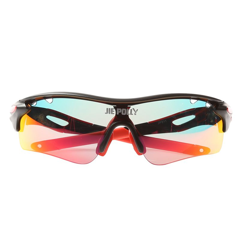 Jie Polly Cycling Sunglasses Safety Anti-Explosion Glasses Protective Sunglasses Black