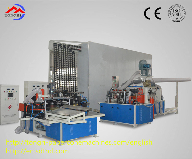 Automatic Cone Paper Tube Production Line Finishing Machine Parts Production of High-Quality Conical Bobbin
