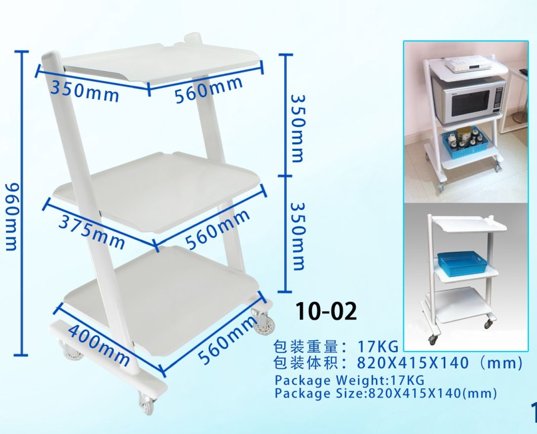 High Grade Medical Cart Cabinet with Trolley Wheel