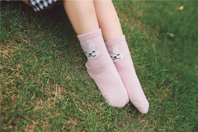 Cute Rabbit Designs Little Girl Cotton Socks