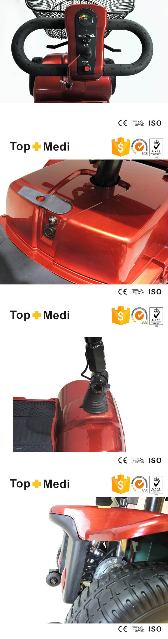 Topmedi Outdoor Electric Motorized Mobility Scooter Prices
