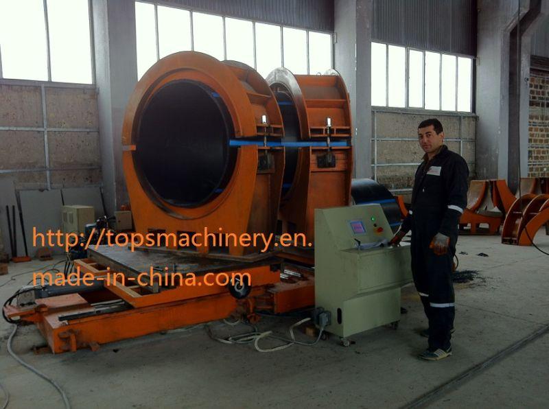 Workshop Hydraulic Heat Fusion HDPE Pipe Tube Elbow Tee Cross-Tee Fitting Fabricating Multi-Angle Butt Welding Machine Welder
