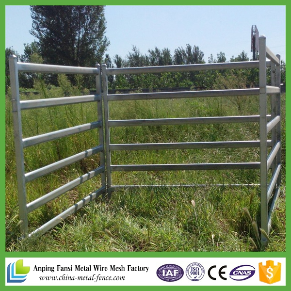 2.1m*1.8m Heavy Duty Cheap Galvanized Portable Cattle Yard Panels