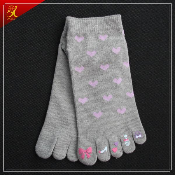 Custom Cotton 5 Toe Yoga Socks