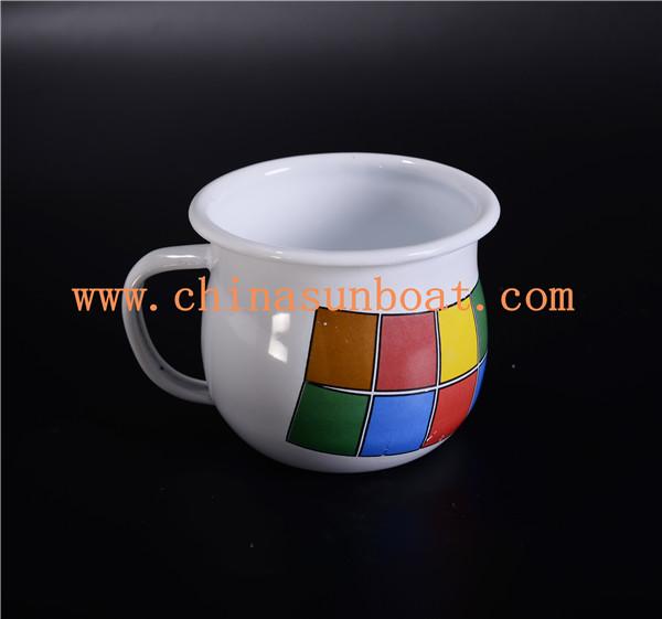 Sunboat Milk Cup/Mug Enamel Tableware /Drinkware