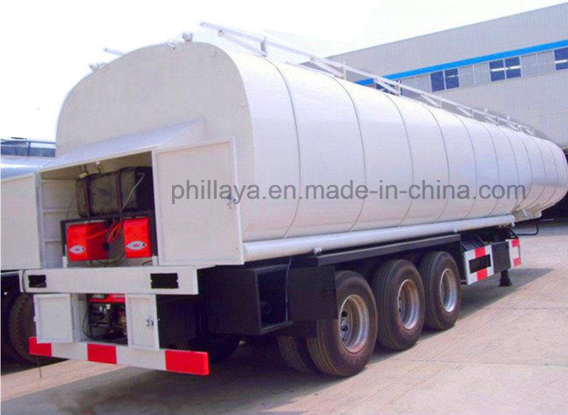 Bitumen Tanker Trailer Asphalt Heating Tank with Volume Optional