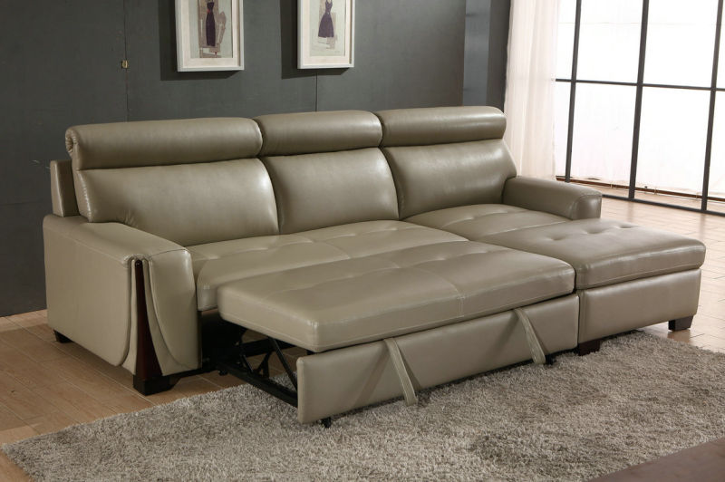 Manual Type Recliner Sofa, Leather Sofa Bed (953)