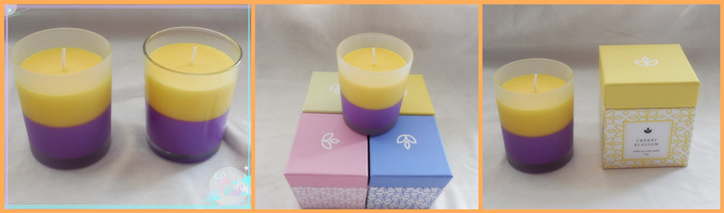 Colored Mix Wax Romantic Candle/7.5 * 9 Cm Glass Jar Candle Scented