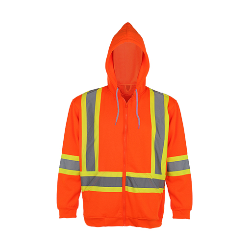 100% Polyester Reflective Safety Hooded Sweatshirt