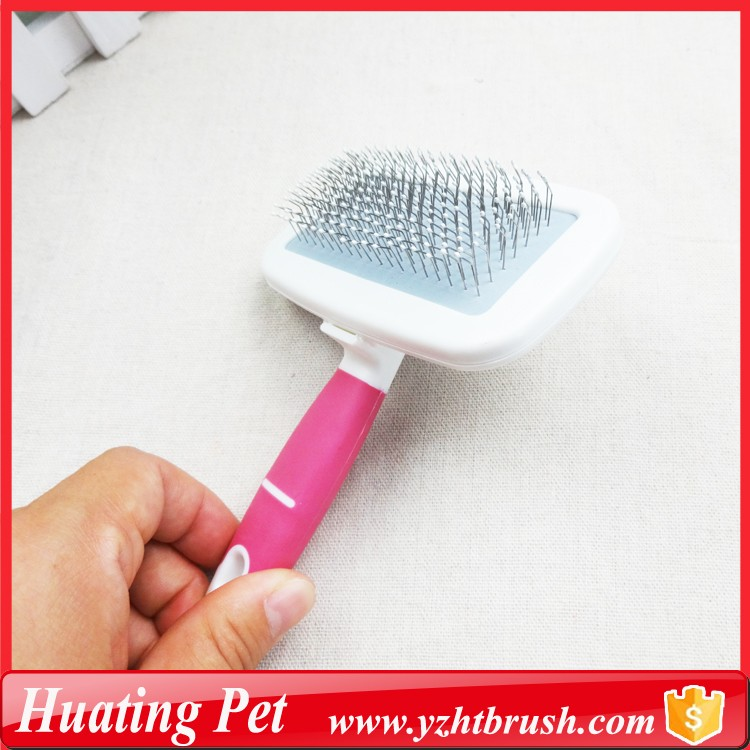 Disposable puppy care tool pink brush