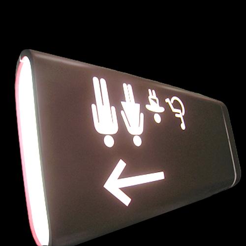 LED Facelit Toilet Washroom Acrylic Facility Signs