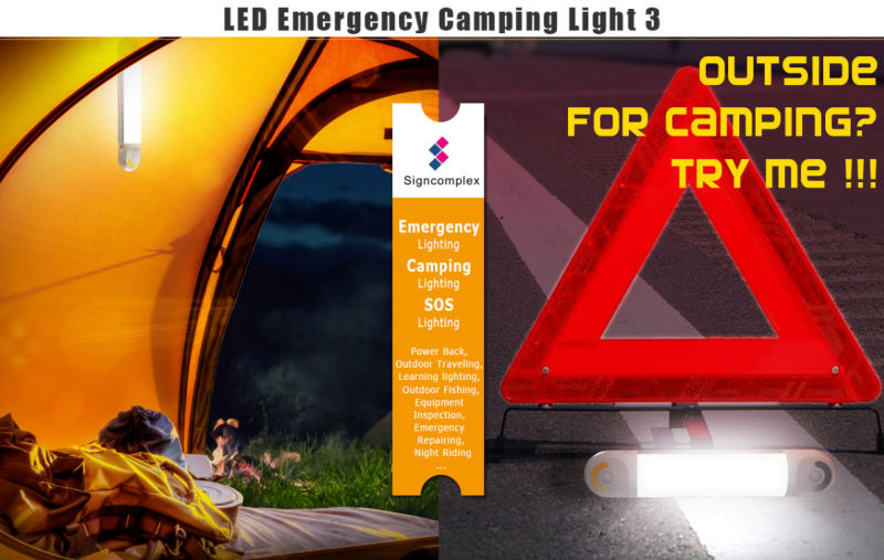 Camping LED Emergency Light Bar, LED Rechargeable Emergency Light with Ce RoHS