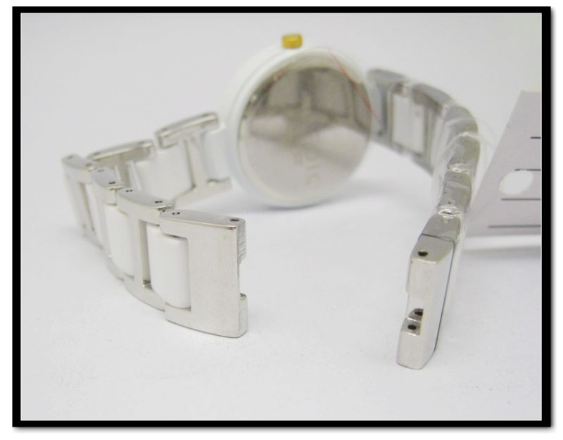 Ceramics Watch, Ceramics Ladies Watch with Stainless Steel ,Imitated Ceramic Quartz Analog Watch White