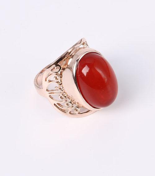 Hear Design Fashion Jewelry Ring with Rhinestones