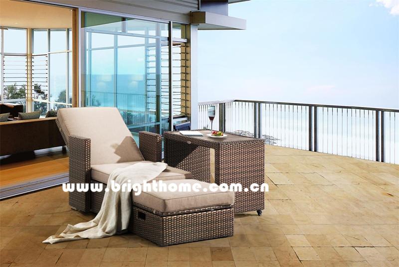 PE Rattan Wicker Balcony Lounge Outdoor Furniture Bp-8030