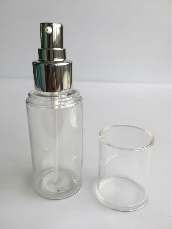 80ml Heavy Walled Pet Cylinder Lotion Bottle W/ Over Cap (EF-PL09080)
