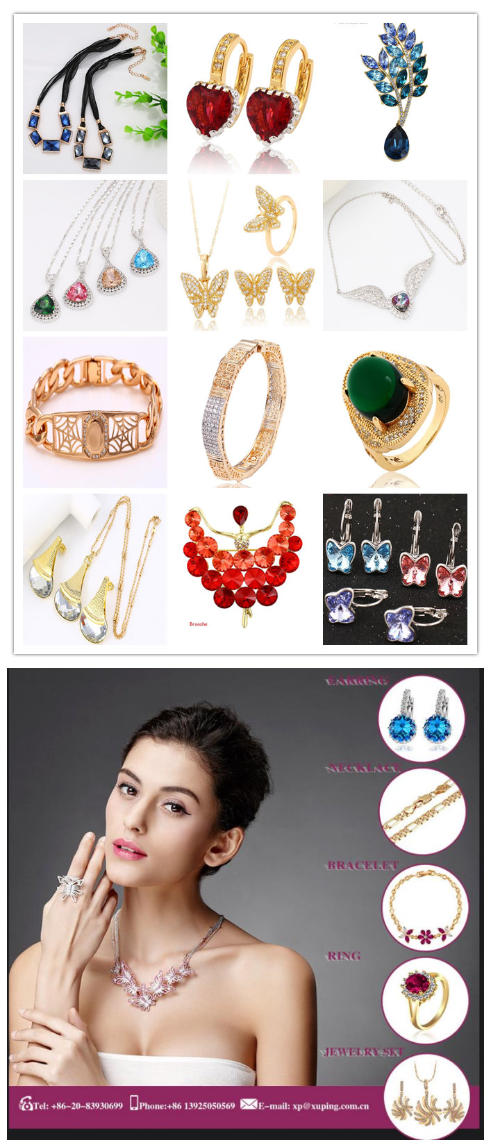 Fashion Xuping 18k Gold-Plated Big Wide Rural Style Imitation Jewelry Set -51467
