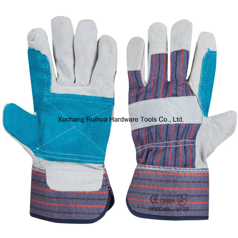 Industrial Short Cowhide Leather Working Gloves,Safety Working Gloves,10.5''patched Palm Leather Gloves,Cow Split Leather Full Palm Working Glove,Driver Gloves