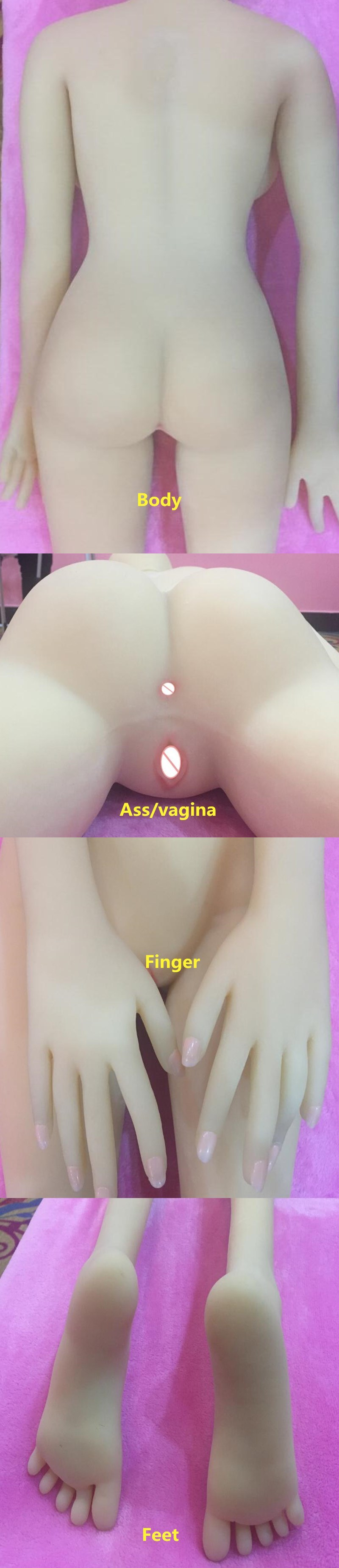 New 168cm Lifelike Solid Silicone Sex Dolls Large Boobs Life Size Love Doll Oral Adult Artificial Vagina Real Pussy Sexy Toys